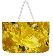 Yellow Rhodies Floral Brilliant Sunny Rhododendrons Baslee Troutman Weekender Tote Bag