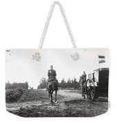 Yellow Riders On Horseback Near Arnhem Weekender Tote Bag