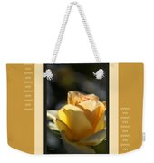 Yellow Rose Bud Dreams With Design Weekender Tote Bag