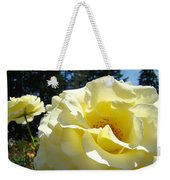Yellow Rose Garden Landscape 3 Roses Art Prints Baslee Troutman Weekender Tote Bag