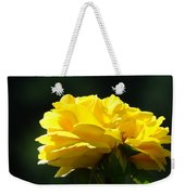 Yellow Rose Sunlit Rose Garden Landscape Art Baslee Troutman  Weekender Tote Bag