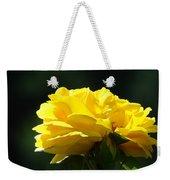 Yellow Rose Sunlit Rose Garden Landscape Art Baslee Troutman  Weekender Tote Bag
