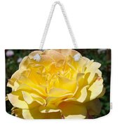 Yellow Rose Sunlit Summer Roses Flowers Art Prints Baslee Troutman Weekender Tote Bag