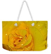 Yellow Rose With Droplets By Kaye Menner Weekender Tote Bag