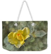 Yellow Rose With Old Marbel Texture Background Weekender Tote Bag