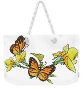 Yellow Roses And Monarch Butterflies Weekender Tote Bag