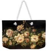 Yellow Roses On Black  Weekender Tote Bag