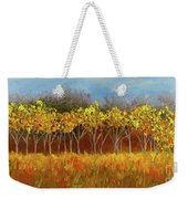Yellow Stand Of Trees Weekender Tote Bag
