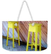 Yellow Stools Weekender Tote Bag