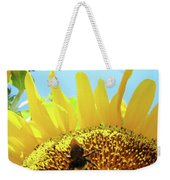 Yellow Sunflower Art Prints Bumble Bee Baslee Troutman Weekender Tote Bag