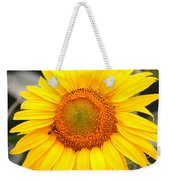 Yellow Sunflower With Bee Weekender Tote Bag