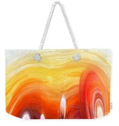 Yellow Sunlight Abstract Art Weekender Tote Bag
