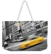 Yellow Taxi Nyc Weekender Tote Bag