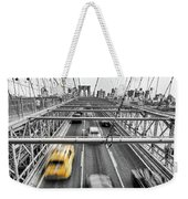Yellow Taxi Weekender Tote Bag