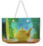 Yellow Teapot And Bowl Weekender Tote Bag