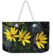 Yellow Trined Weekender Tote Bag
