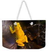 Yellow Tropical Frog Weekender Tote Bag