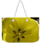 Yellow Tulip Center Squared Weekender Tote Bag