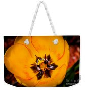 Yellow Tulip - Close Up Weekender Tote Bag