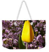 Yellow Tulip In The Garden Weekender Tote Bag