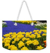 Yellow Tulips And Blue Muscari In Dutch Garden Weekender Tote Bag