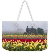 Yellow Tulips And Tractors Weekender Tote Bag