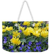 Yellow Tulips And Violets Weekender Tote Bag