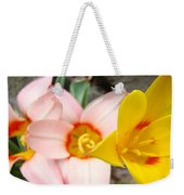 Yellow Tulips Art Prints Pink Tulips Spring Florals Baslee Troutman Weekender Tote Bag