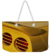 Yellow Vette Lights Weekender Tote Bag