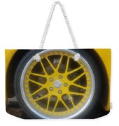 Yellow Vette Wheel Weekender Tote Bag