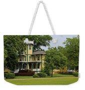 Yellow Victorian-horizontal Weekender Tote Bag