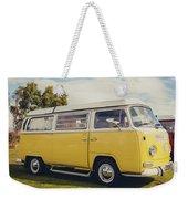 Yellow Vw T2 Camper Van 02 Weekender Tote Bag