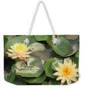 Yellow Water Lillies Weekender Tote Bag