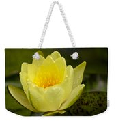 Yellow Water Lilly Weekender Tote Bag