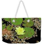 Yellow Water Lily Weekender Tote Bag