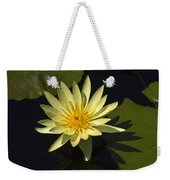 Yellow Water Lily Weekender Tote Bag