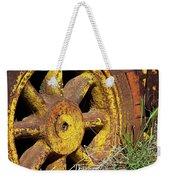 Yellow Wheel Weekender Tote Bag