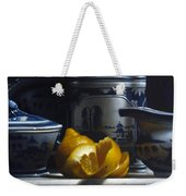 Yellow White Blue Weekender Tote Bag