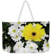 Yellow White Flowers Weekender Tote Bag