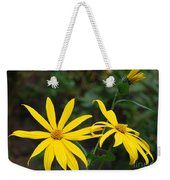 Yellow Wild Flower Weekender Tote Bag