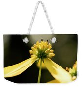 Yellow Wildflower Weekender Tote Bag