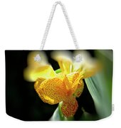 Yellow With Red Spots Weekender Tote Bag by Douglas Barnard