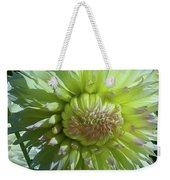 Yellow With White Dahlia Flower Weekender Tote Bag