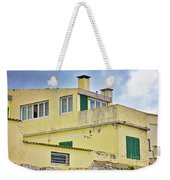 Yellow Worn Out Concrete House Weekender Tote Bag