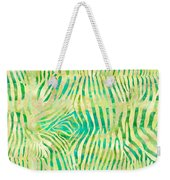Yellow Zebra Print Weekender Tote Bag