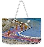 Yellowstone Abstract I Weekender Tote Bag by Teresa Zieba