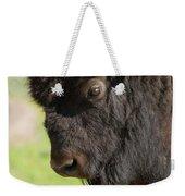 Yellowstone Bison Portrait Weekender Tote Bag by Sandra Bronstein