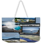 Yellowstone Park August Panoramas Collage Weekender Tote Bag