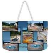 Yellowstone Park Firehole Spring In August Collage Weekender Tote Bag