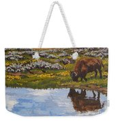 Yellowstone Reflections Weekender Tote Bag by Erin Fickert-Rowland
